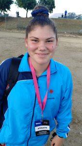 Chirsté Loedolff u/14 girls Discus 1kg. National championships 41.05m